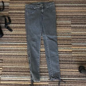 LF CARMAR jeans with lace up bottoms